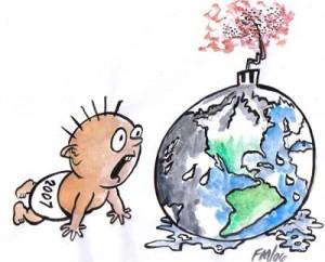 fraude cambio climatico calentamiento bebe