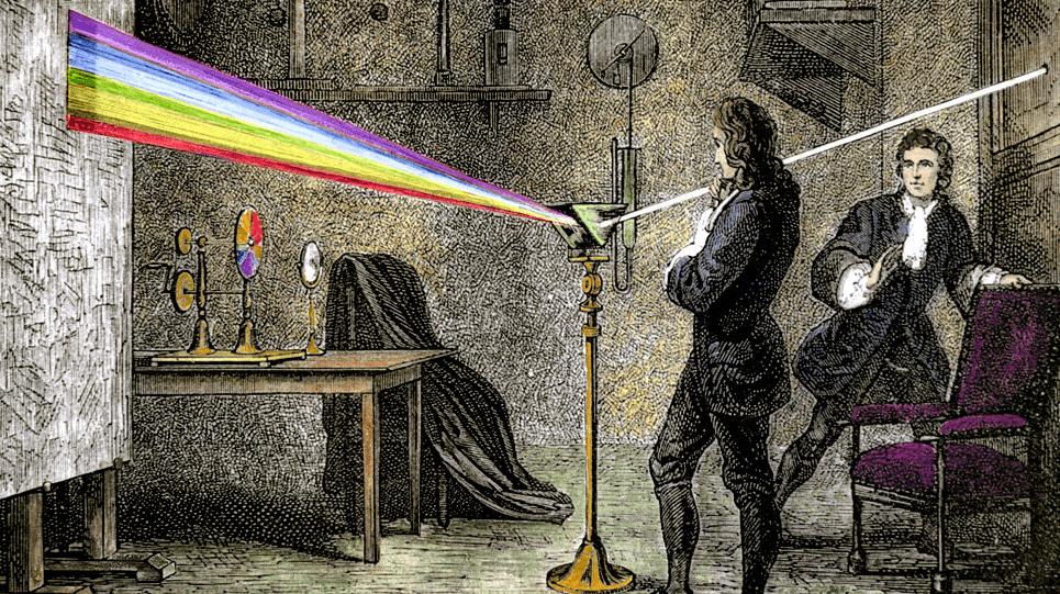 Resultado de imagen de Newton y los experimentos con rayos de luz