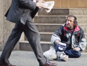 desigualdad mendigo